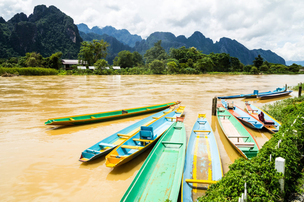 the beautiful landscape of vang vieng,laos