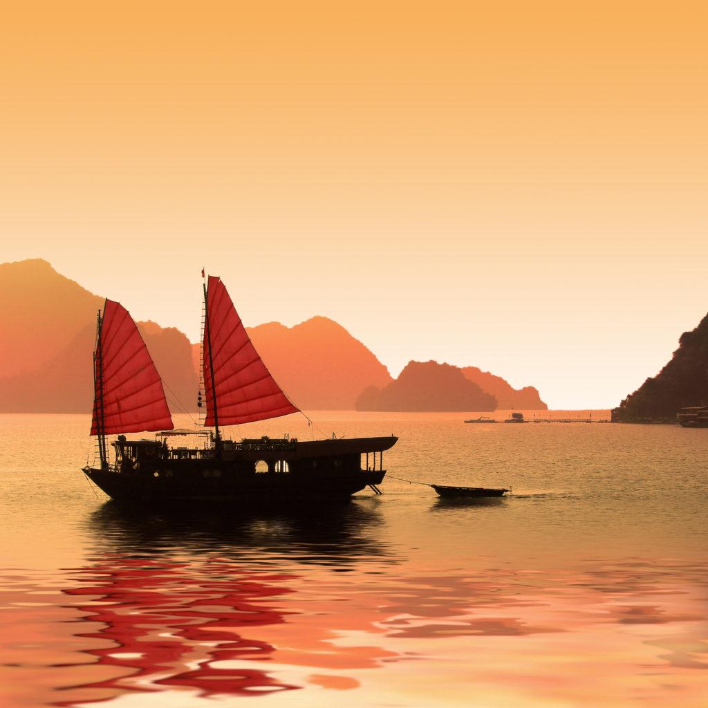 Jonque dans la baie d'Halong - Vietnam