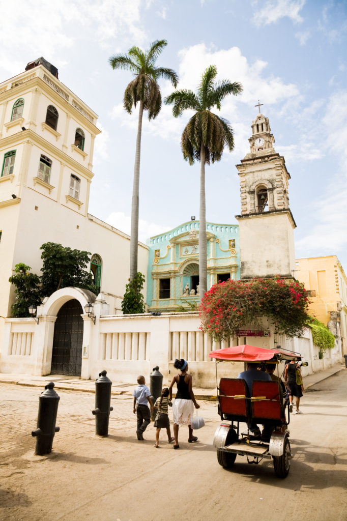 The Belen Convent and church in Old Havana in Cuba