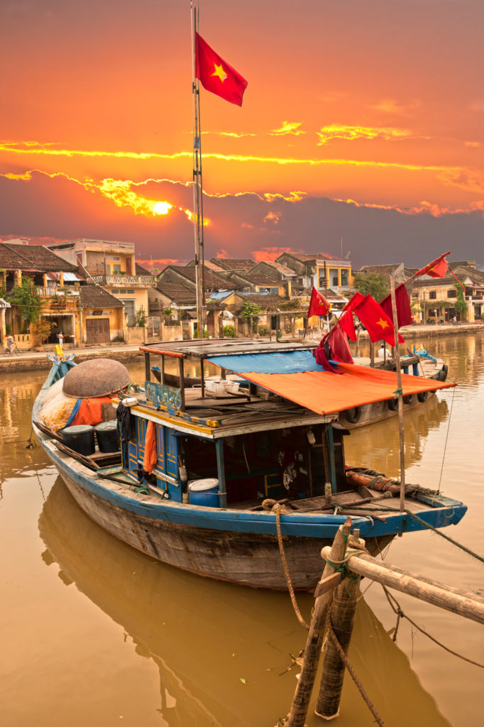 View on the old town of Hoi An. Vietnam